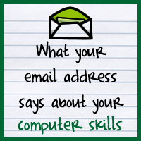 What your email address says about your computer skills