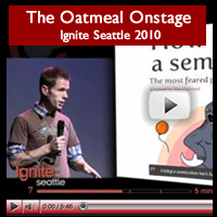 The Oatmeal Onstage at Ignite Seattle