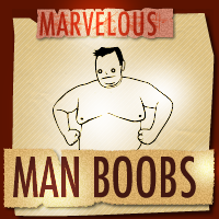 A pair of large, angry man boobs - Marvelous Man Boobs