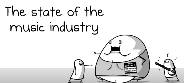 The state of the music industry – The Oatmeal