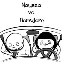 Nausea vs Boredom