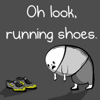 Oh look, running shoes