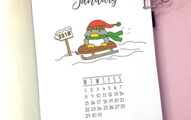 Plan with me january 2018 bullet journal setup 2