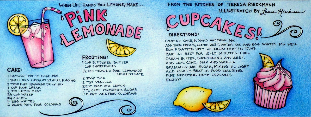 Draw and cook cupcake recipe