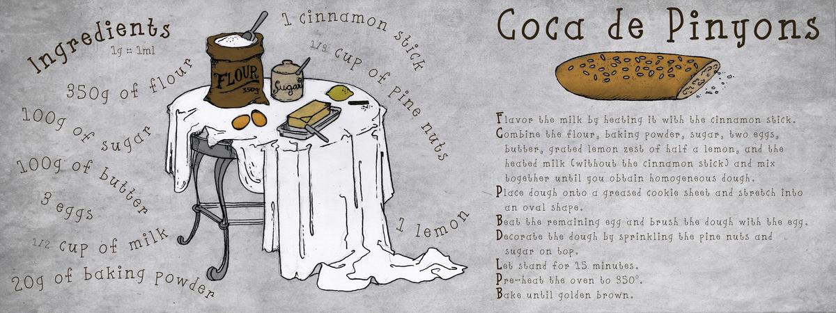 Coca de pinyons