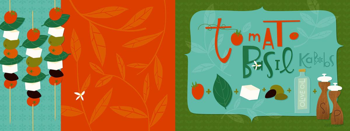 Tomato basil kebobs
