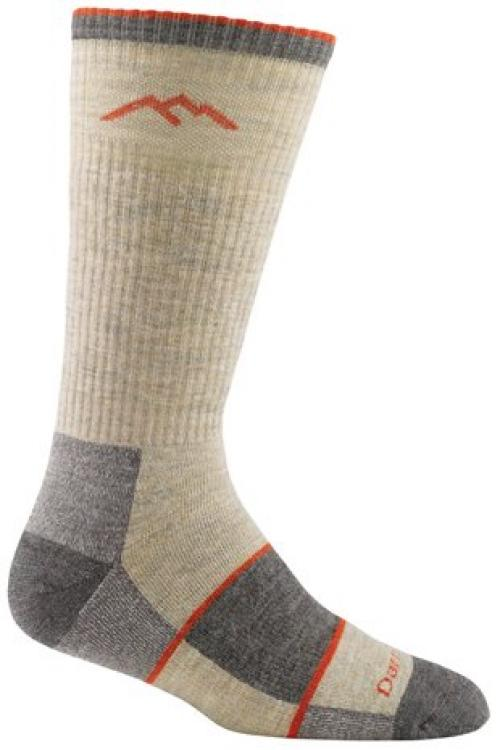 Darn Tough Vermont Darn Tough Vermont Men's Merino Wool Boot Full Cushion Socks, Oatmeal, Small
