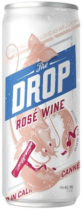 The drop rose wine can large