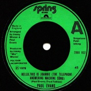 Hello, This Is Joannie (The Telephone Answering Machine Song) by Paul Evans