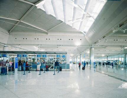 Ataturk International Airport in Istanbul, Turkey.