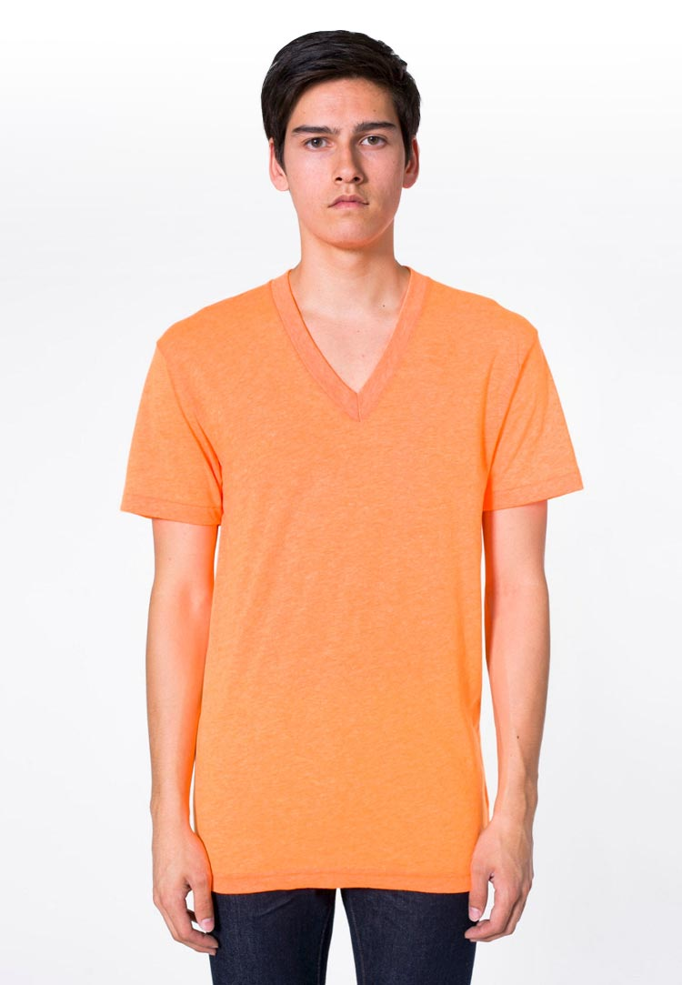 American apparel bb456 neon heather orange
