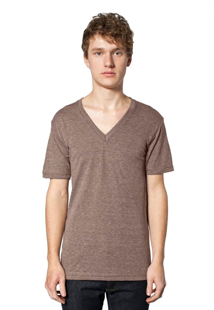 American apparel tr461 american apparel tri blend v neck for Tri blend custom t shirts