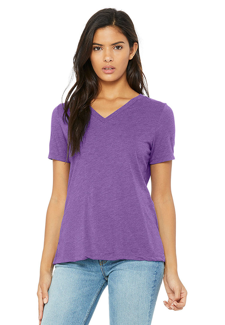 Bella 6405 purple triblend