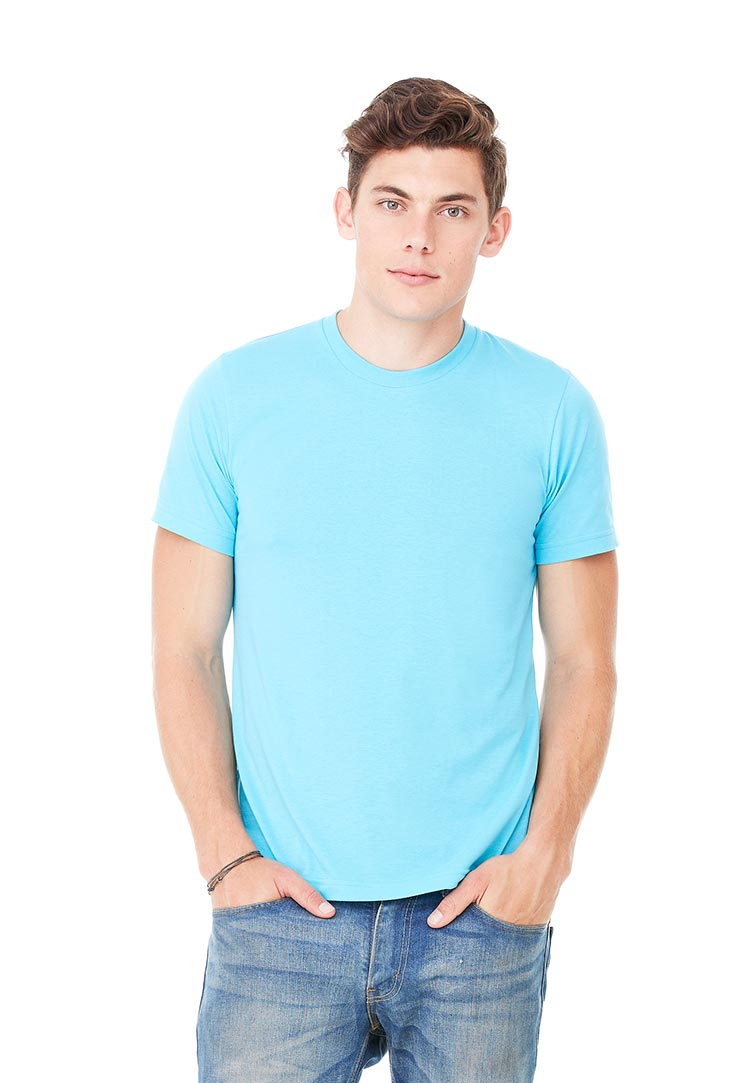 Canvas Mens Crew Neck Short Sleeve T Shirt Deep Teal L