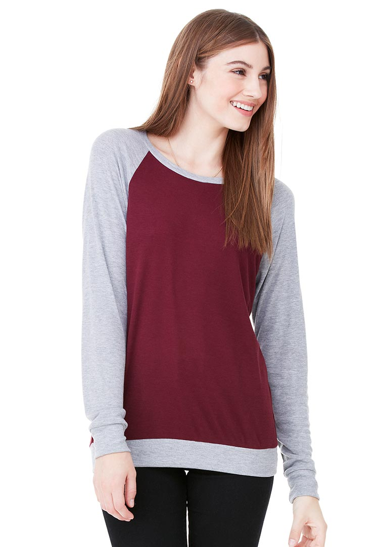 Canvas 3981 maroon athletic heather