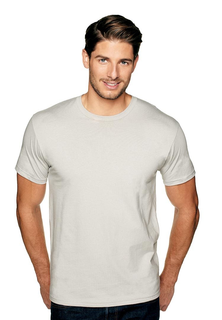 Next level premium fitted short sleeve crew threadbird for What is a fitted t shirt