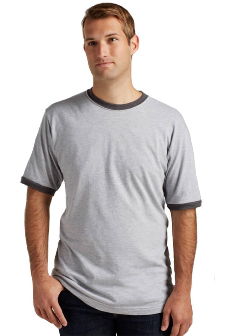 Tultex 0246 ringer gray