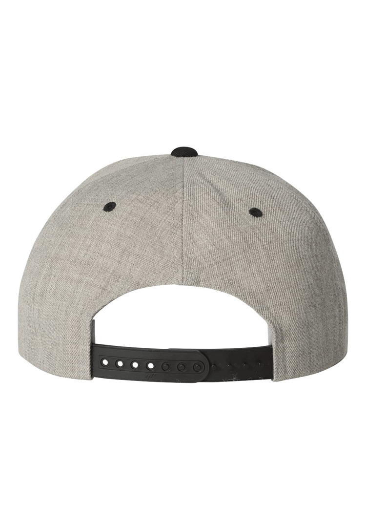 Yupoong 6089 heather grey back preview