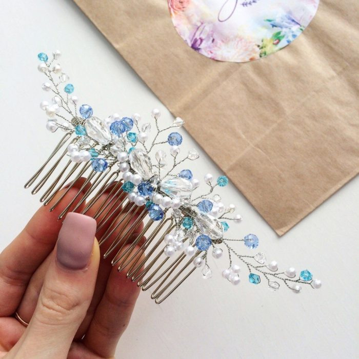 How to Make a Beautiful Bridal Comb - Threads