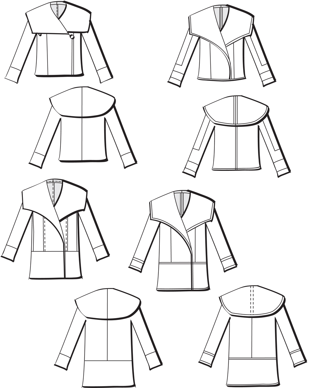 Pattern review mccalls 6656 unlined coats threads sewing tip for a reversible jacket make a double cloth version with flat felled seams jeuxipadfo Gallery