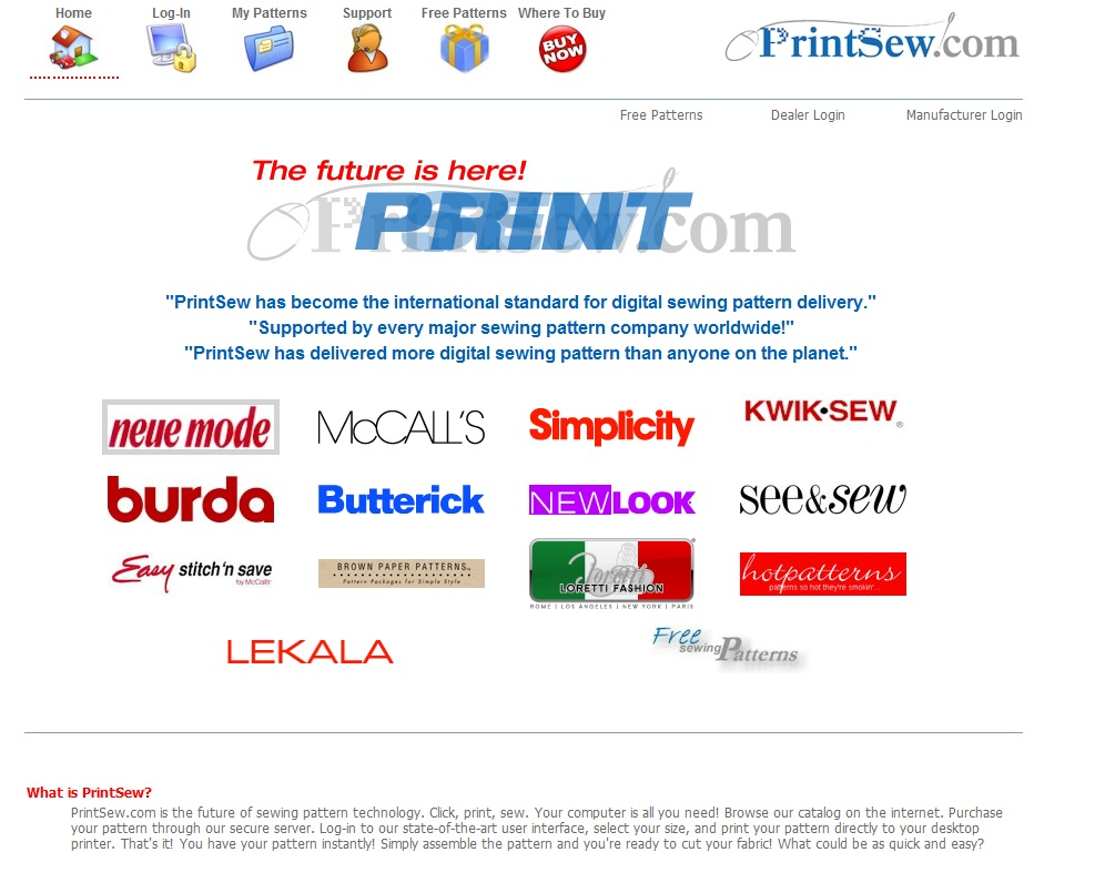 Print patterns at home threads many sewing pattern companies use printsew to deliver pattern downloads after purchase you must first download a plug in from the website before you jeuxipadfo Image collections