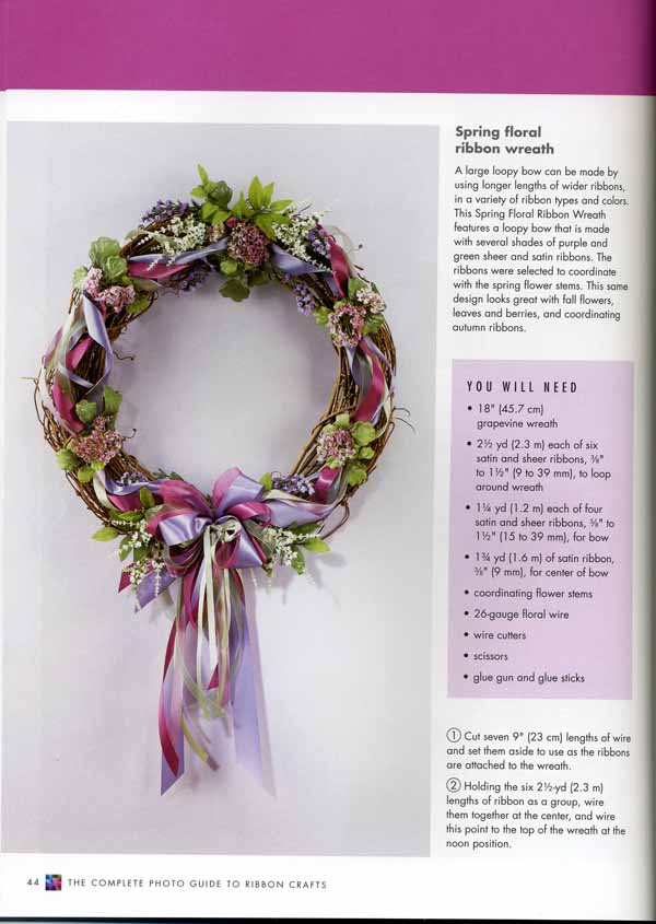 Book Giveaway - The Complete Photo Guide to Ribbon Crafts - Threads