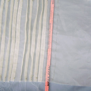 recreate couture pleated silk organza panels