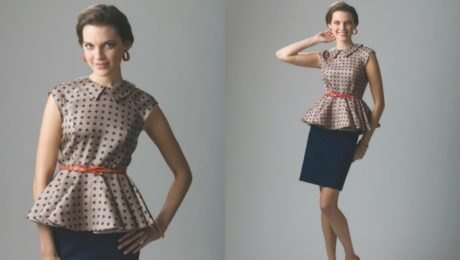 peplum gore pattern from Threads Magazine