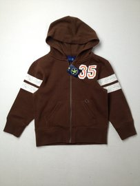J Khaki Zip-up Hoodie