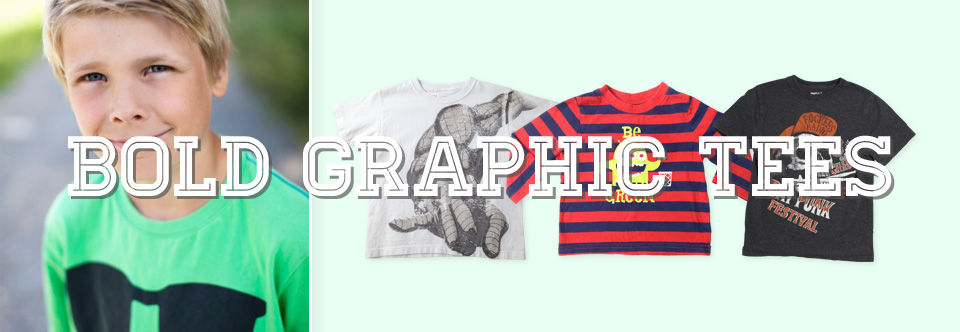 Boys Look: Bold Graphic Tees