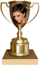 Victoria Beckham trophy