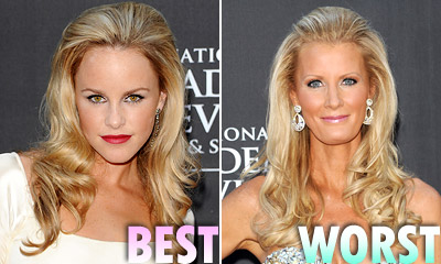 Julie Berman and Sandra Lee hairstyles