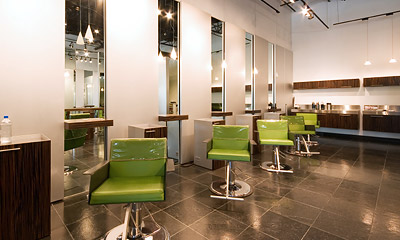 Hair salon inside