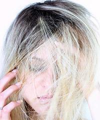 Hair covered model