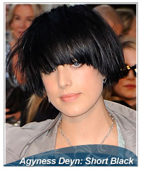Agyness Deyn hairstyles