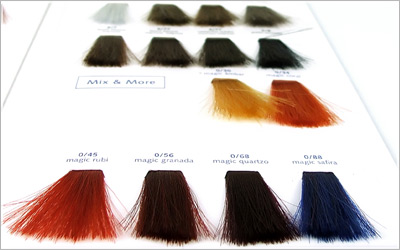 Hair color swatch