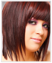 Dark Red Brown Hair Color with Highlights