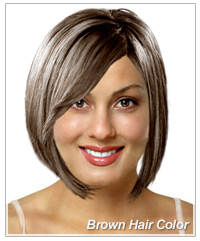 Brown hair color on a virtual hairstyle
