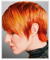Model with two-tone red hair