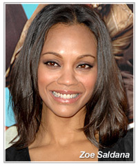 Zoe Saldana hairstyles