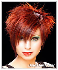 Bold color in short hair