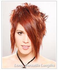 Long lengths in short hair