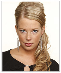 Long formal updo hairstyle
