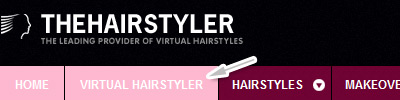 Virtual hairstyler menu link