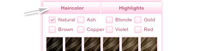 Hair color icon
