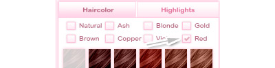 Hair color categories