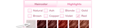 Hair color squares