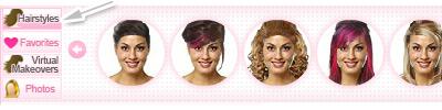 Hairstyles tab