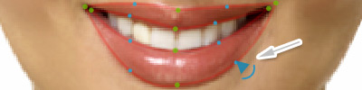 Lips adjustment circles