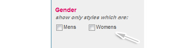 Select gender option
